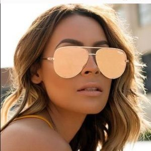 Quay x Desi Rose Gold High Key Sunglasses